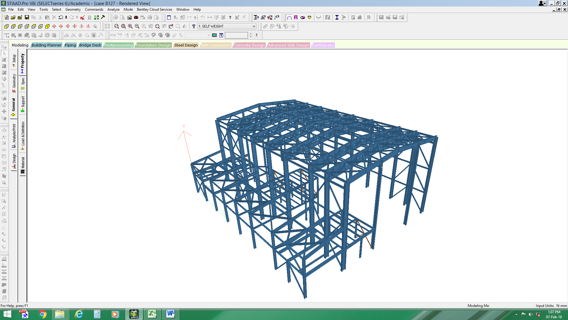 Steel structure for turbine operation building in Malaysia